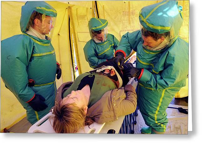 Major Emergency Decontamination Training Greeting Card