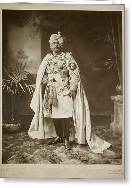 Major General Hh Maharaja Sir Pertab Sing Greeting Card by British Library