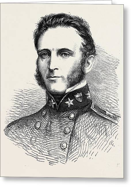 Major-general Stonewall Jackson Of The Confederate Army 1862 Greeting Card by English School
