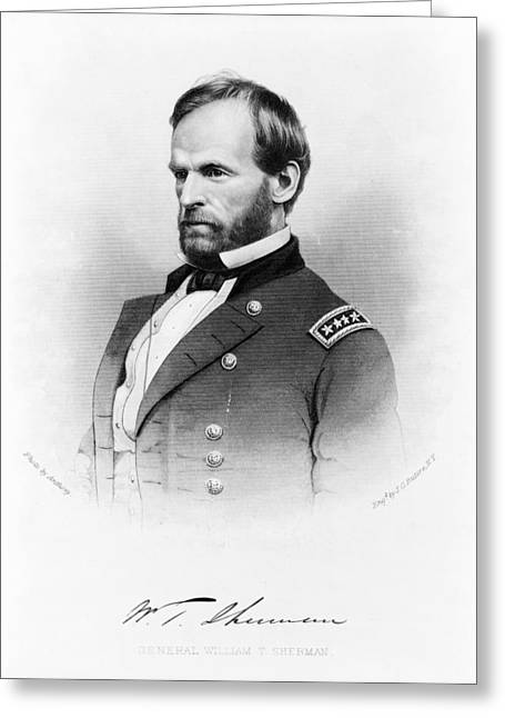 Major General William T Sherman Greeting Card by Mountain Dreams