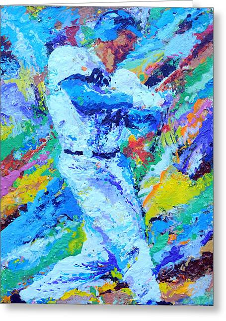 Major League Player Greeting Card by Charles Ambrosio