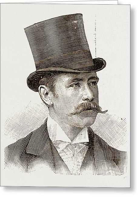 Major P. W. G. Copland Crawford Vice-consul Greeting Card by Litz Collection