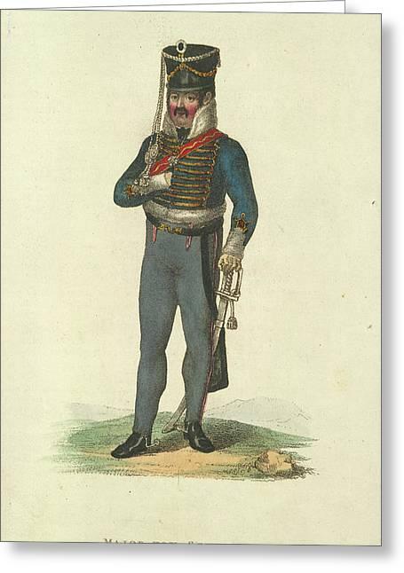 Major Von Schill Greeting Card by British Library