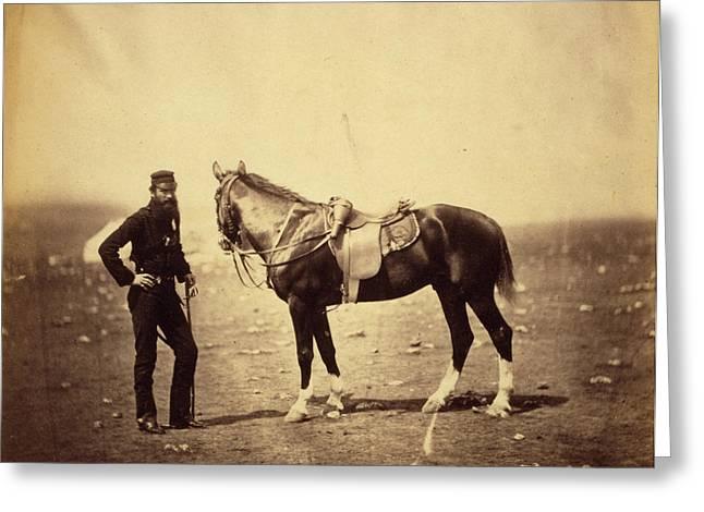 Major Woodford, Rifle Brigade, Crimean War Greeting Card