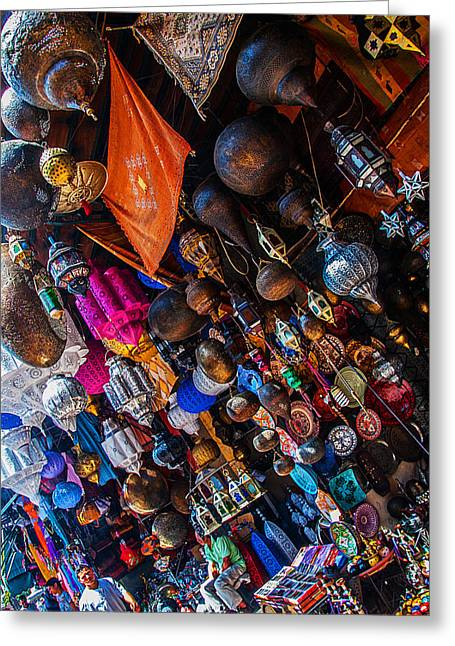 Marrakech Lanterns Greeting Card