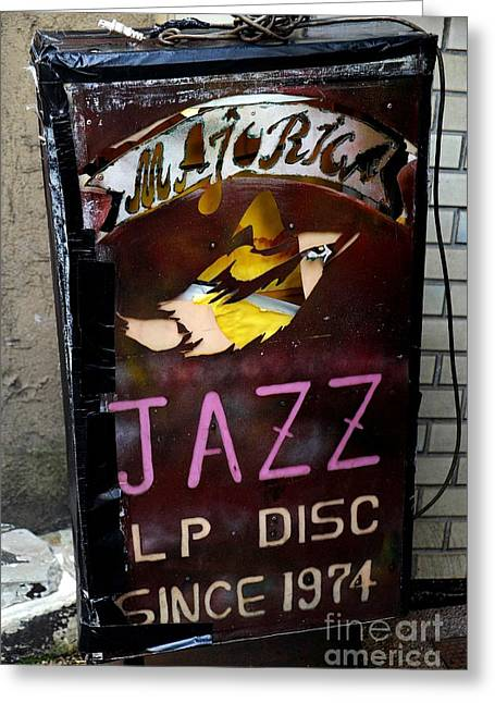 Majorica Jazz Greeting Card by Dean Harte