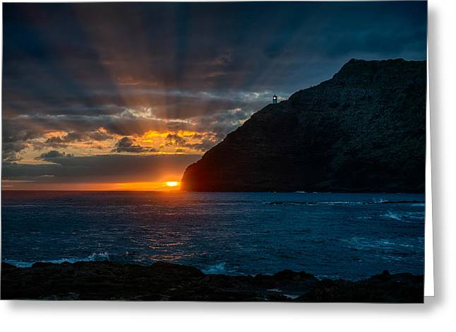 Makapuu Sunrise Greeting Card