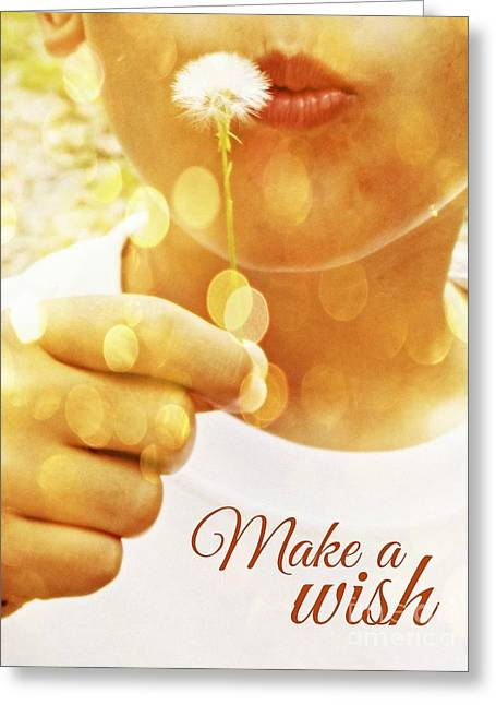 Make A Wish Greeting Card by Valerie Reeves