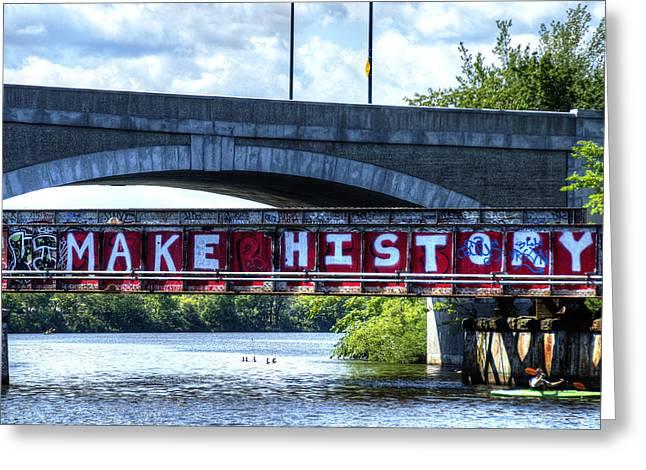Make History Boston Greeting Card