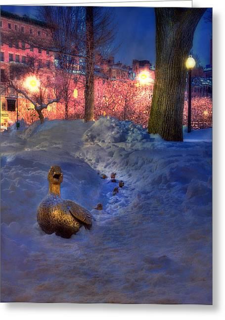 Make Way For Ducklings - Boston Public Garden Greeting Card