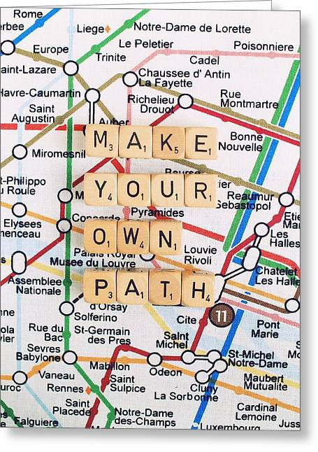 Make Your Own Path Greeting Card by Mable Tan