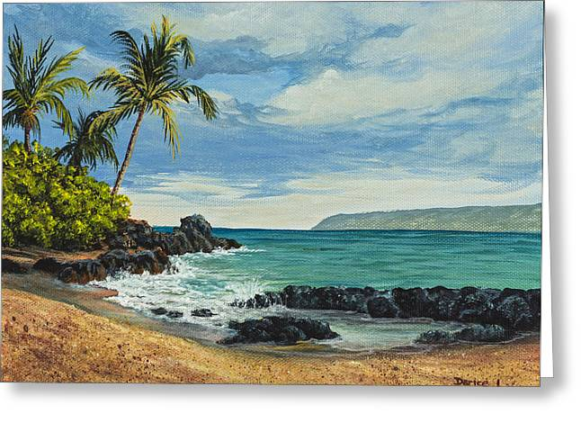 Greeting Card featuring the painting Makena Beach by Darice Machel McGuire