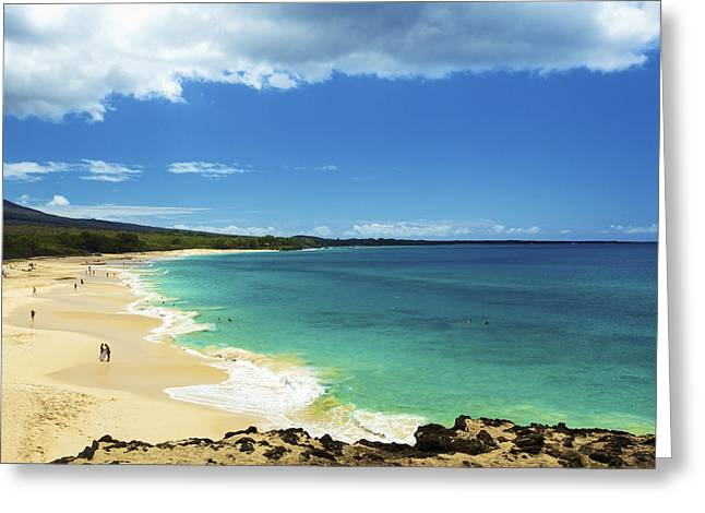 Makena Beach Lookout Greeting Card by Kicka Witte