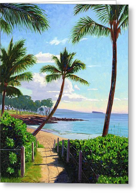 Makena Beach - Maui Greeting Card