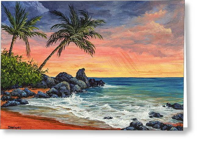 Makena Beach Sunset Greeting Card