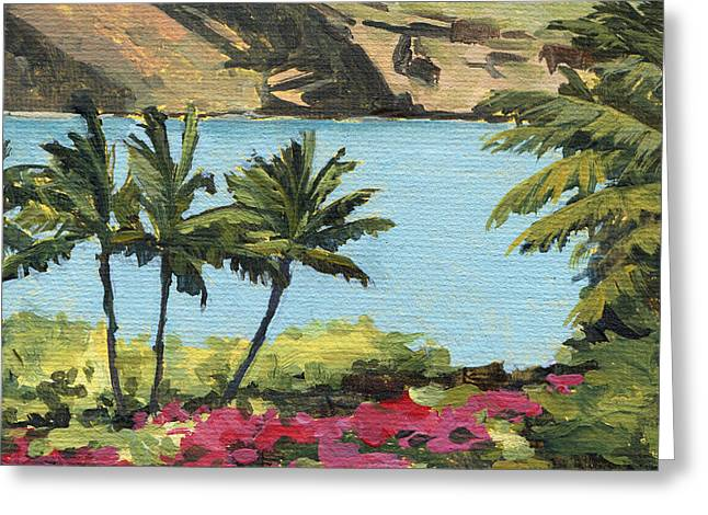 Makena Palms Greeting Card by Stacy Vosberg