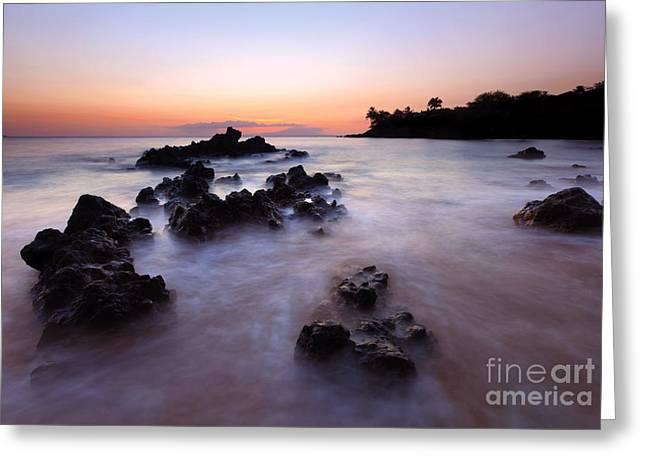 Makena Peace Greeting Card by Mike Dawson