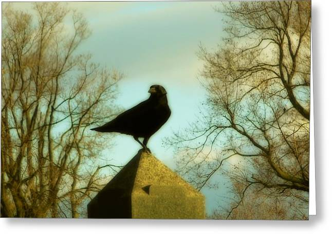 The Very Top Of A Obelisk  Greeting Card by Gothicrow Images