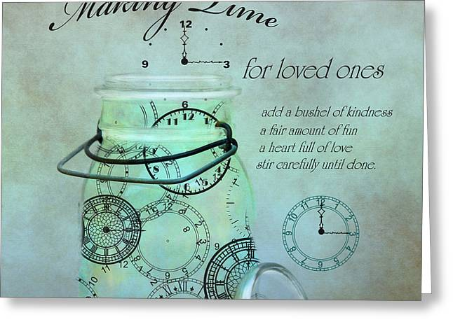 Making Time Greeting Card by Robin-Lee Vieira