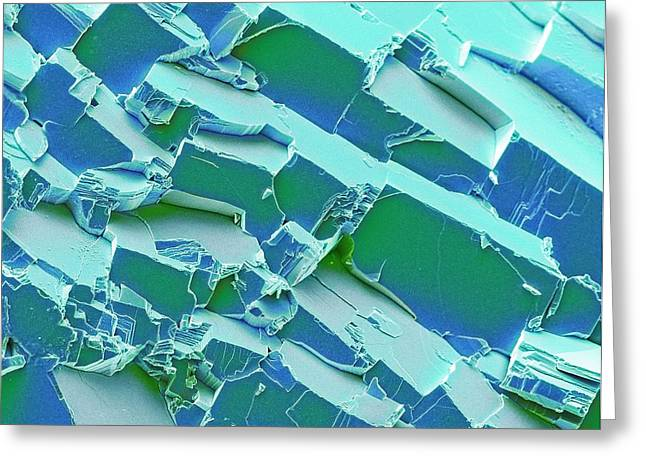 Malachite Greeting Card by Steve Gschmeissner