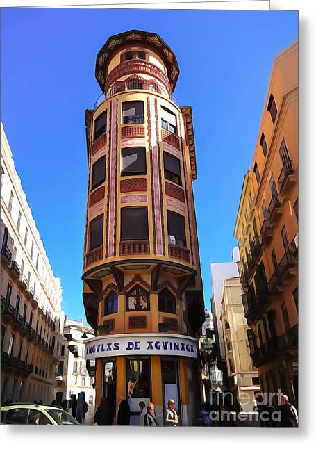 Malaga Architecture Greeting Card by Lutz Baar