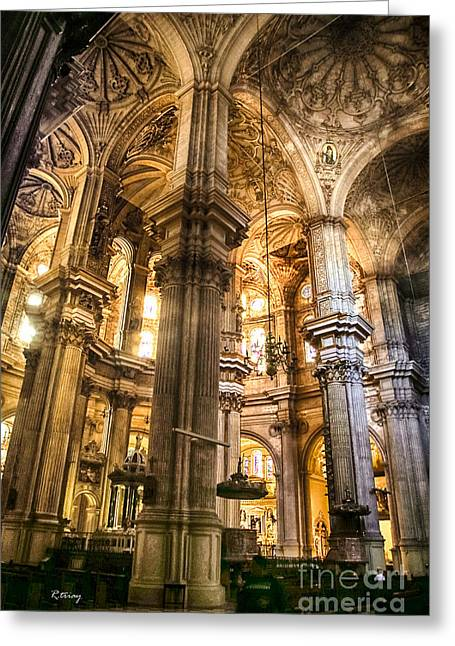 Malaga Cathedral V Greeting Card