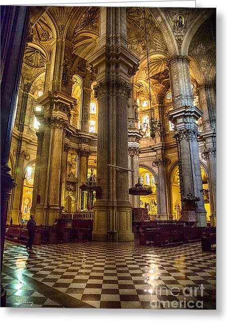 Malaga Cathedral Vi Greeting Card