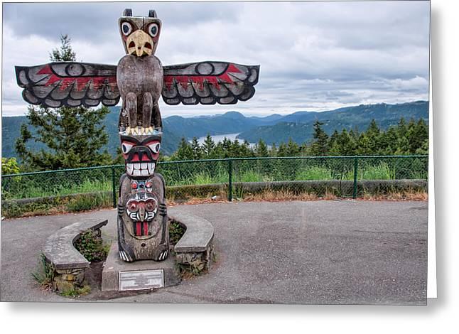 Malahat Mountain Totum Pole Greeting Card