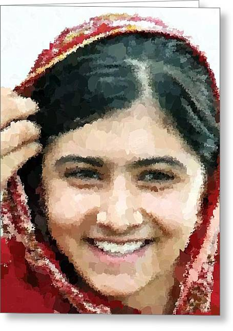 Malala Yousafzai Portrait Greeting Card