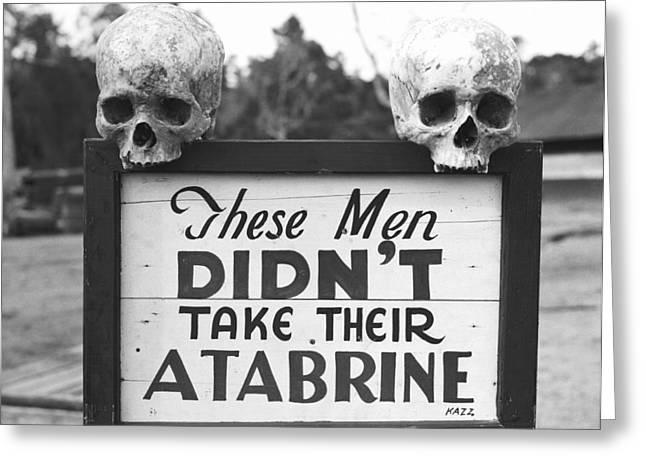 Malaria Drug Warning, World War II Greeting Card