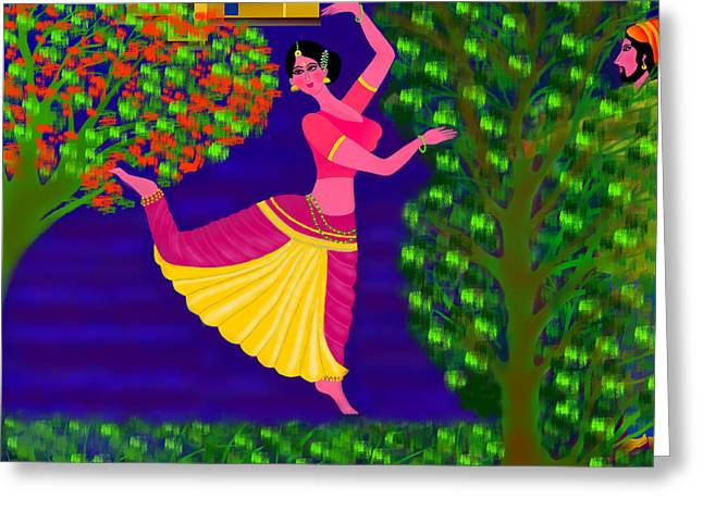 Malavika's Magical Touch Greeting Card by Latha Gokuldas Panicker