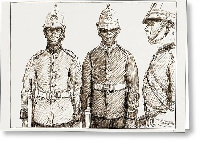 Malay Armed Police Straits Settlements Contingent Greeting Card