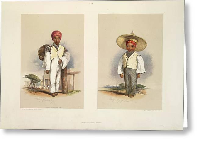Malay Boys Greeting Card by British Library