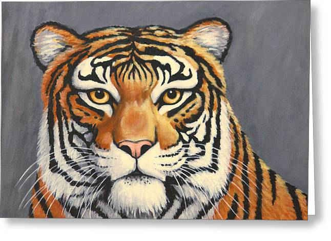 Malayan Tiger Portrait Greeting Card