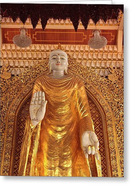 Malaysia, Penang, Dhammikarama Burmese Greeting Card by Alida Latham