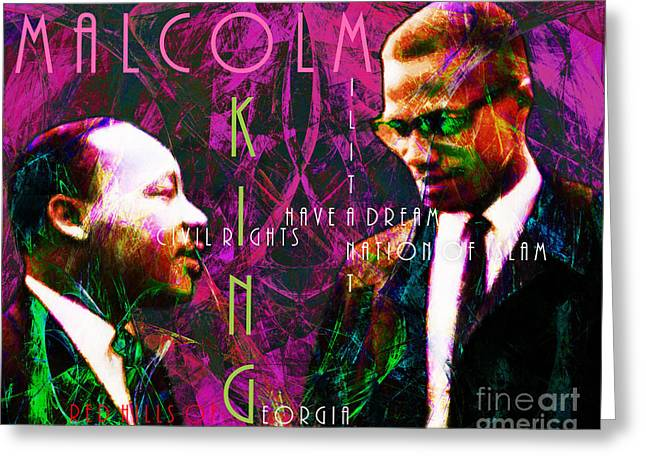 Malcolm And The King 20140205m68 With Text Greeting Card