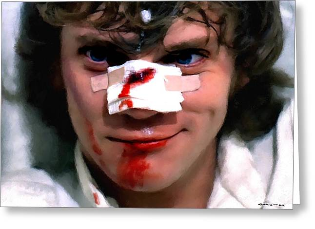 Malcolm Mcdowell As Alex In The Film Clockwork Orange By Stanley Kubrick 1971 Greeting Card