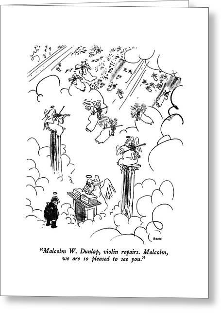 Malcolm W. Dunlap Greeting Card