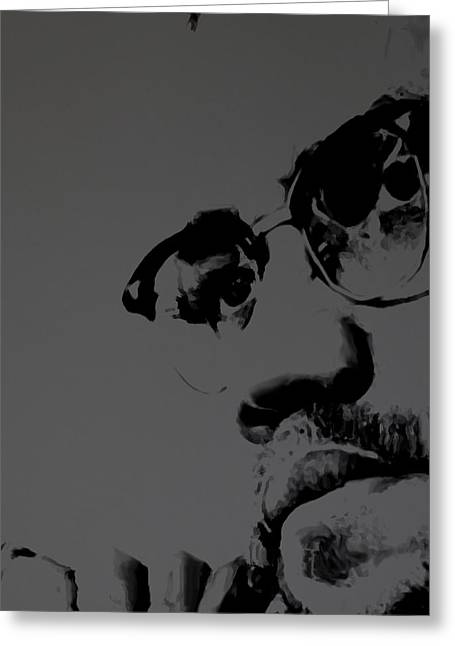 Malcolm X Greeting Card by Brian Reaves