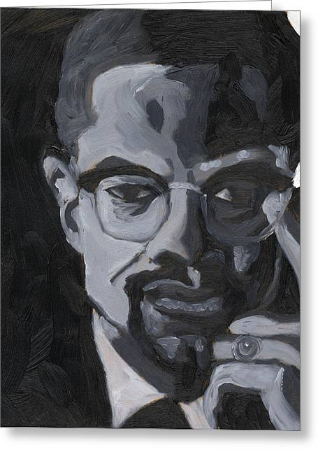 Malcolm X Greeting Card by Isaac Walker