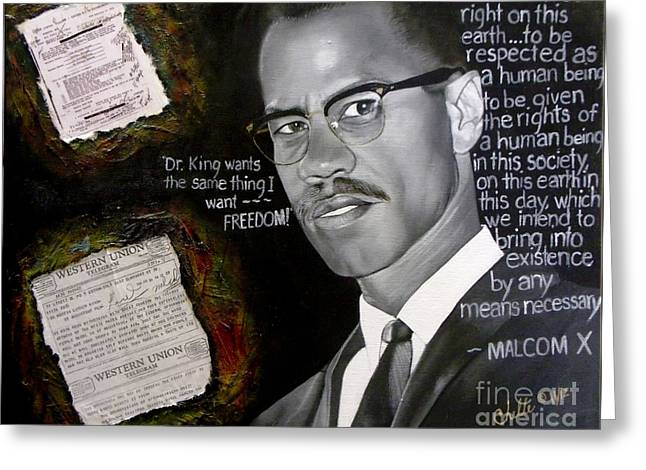 Malcom X Greeting Card
