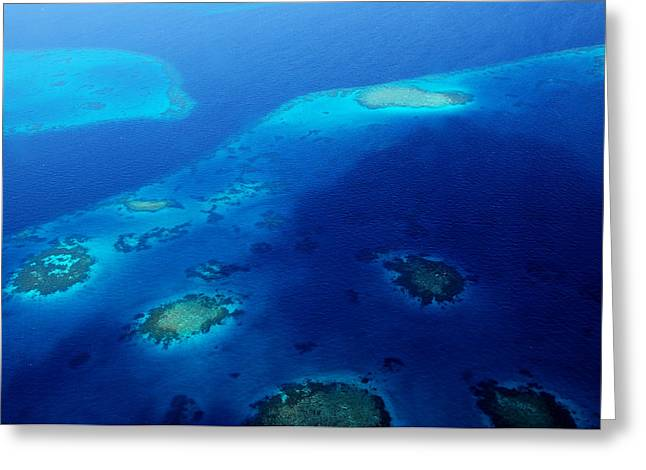 Maldivian Reefs. Aerial Journey Over Maldivian Archipelago Greeting Card by Jenny Rainbow