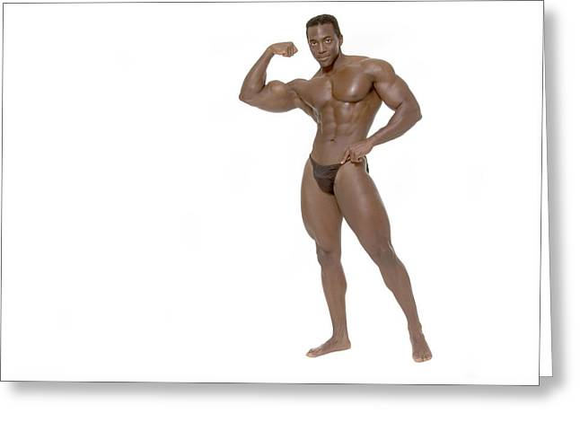 Greeting Card featuring the photograph Male Bodybuilder by Bob Pardue