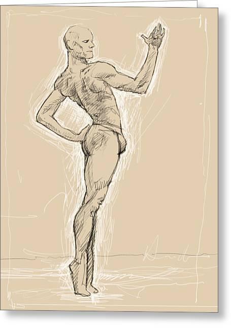Male Dancer Greeting Card