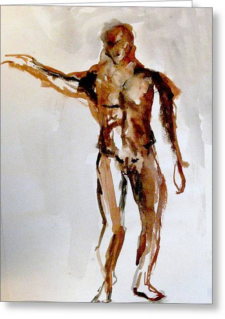 Male Figure Greeting Card by James Gallagher