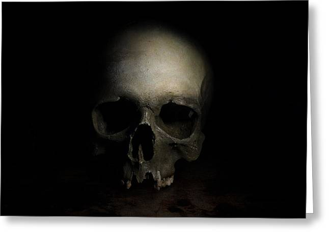 Male Skull Greeting Card by Jaroslaw Blaminsky