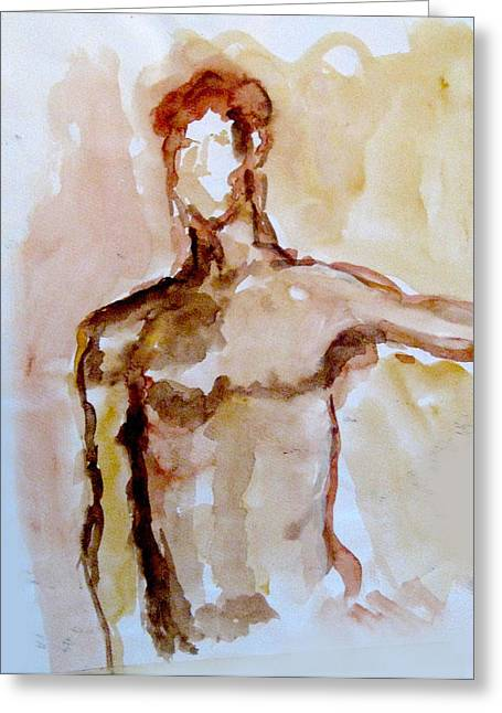 Male Torso Greeting Card by James Gallagher