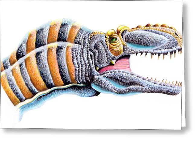 Maleevosaurus Dinosaur Greeting Card by Deagostini/uig