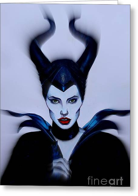 Maleficent Focused Greeting Card by Justin Moore