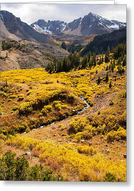 Malemute Peak In Autumn Greeting Card by Adam Pender
